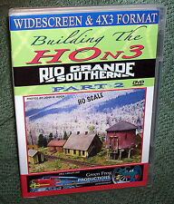 "20150 MODEL RAILROAD DVD ""BUILDING THE HOn3 RGS"" PART 2"
