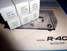 Drake - Röhrensatz (NOS/NIB) für R-4C - letzte Version + 2 Skalenbirnchen  #47