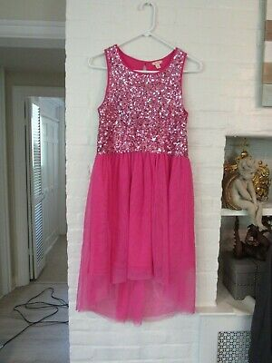 Girls' Clothing (sizes 4 & Up) New W/o Tags Girl's Gold Pink Sequin Dress Nordstrom Ruby & Bloom Brand Size 16