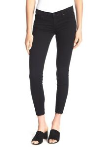 Black-Orchid-Noah-Ankle-Frayed-Hem-Skinny-Jeans-Black-Size-28
