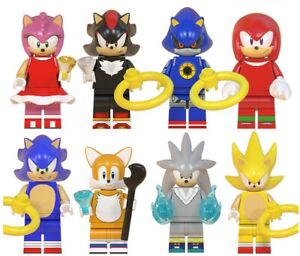 USA SELLER Sonic The Hedgehog Series 8 Minifigures Custom Set