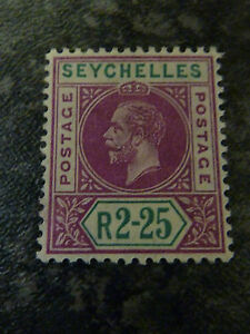 SEYCHELLES-POSTAGE-STAMP-SG81-2R-25-DEEP-MAGENTA-amp-GREEN-LIGHTLY-MOUNTED-MINT