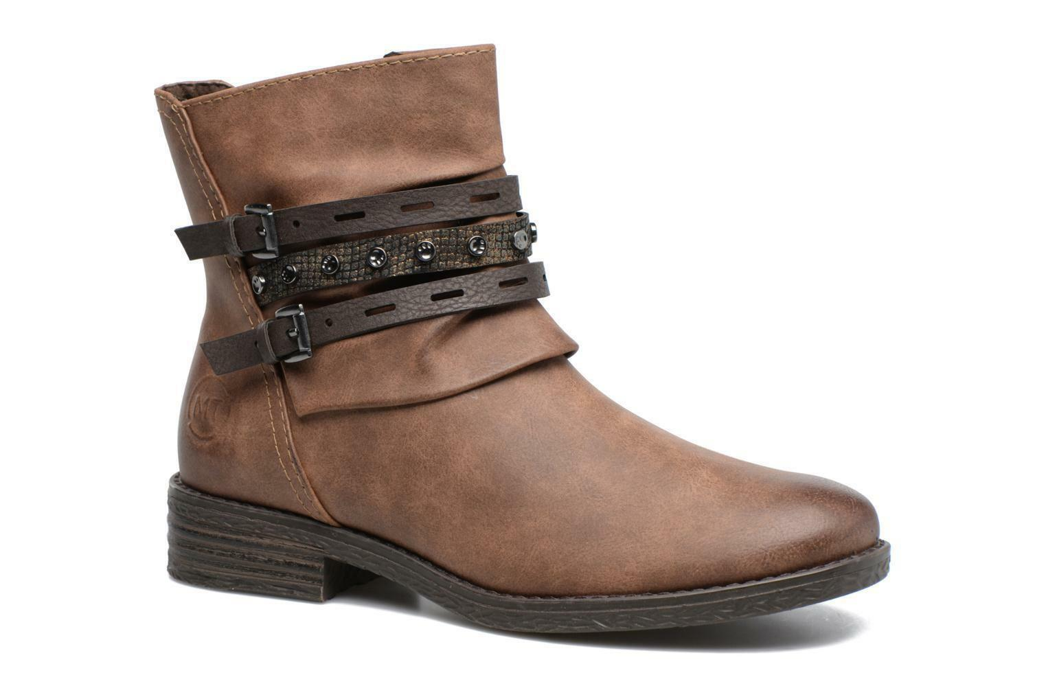 NEW BOXED PILI - WOMEN'S MARCO TOZZI PILI BOXED ZIP-UP ANKLE Stiefel BROWN UK 6 EU 39 bc3a7d