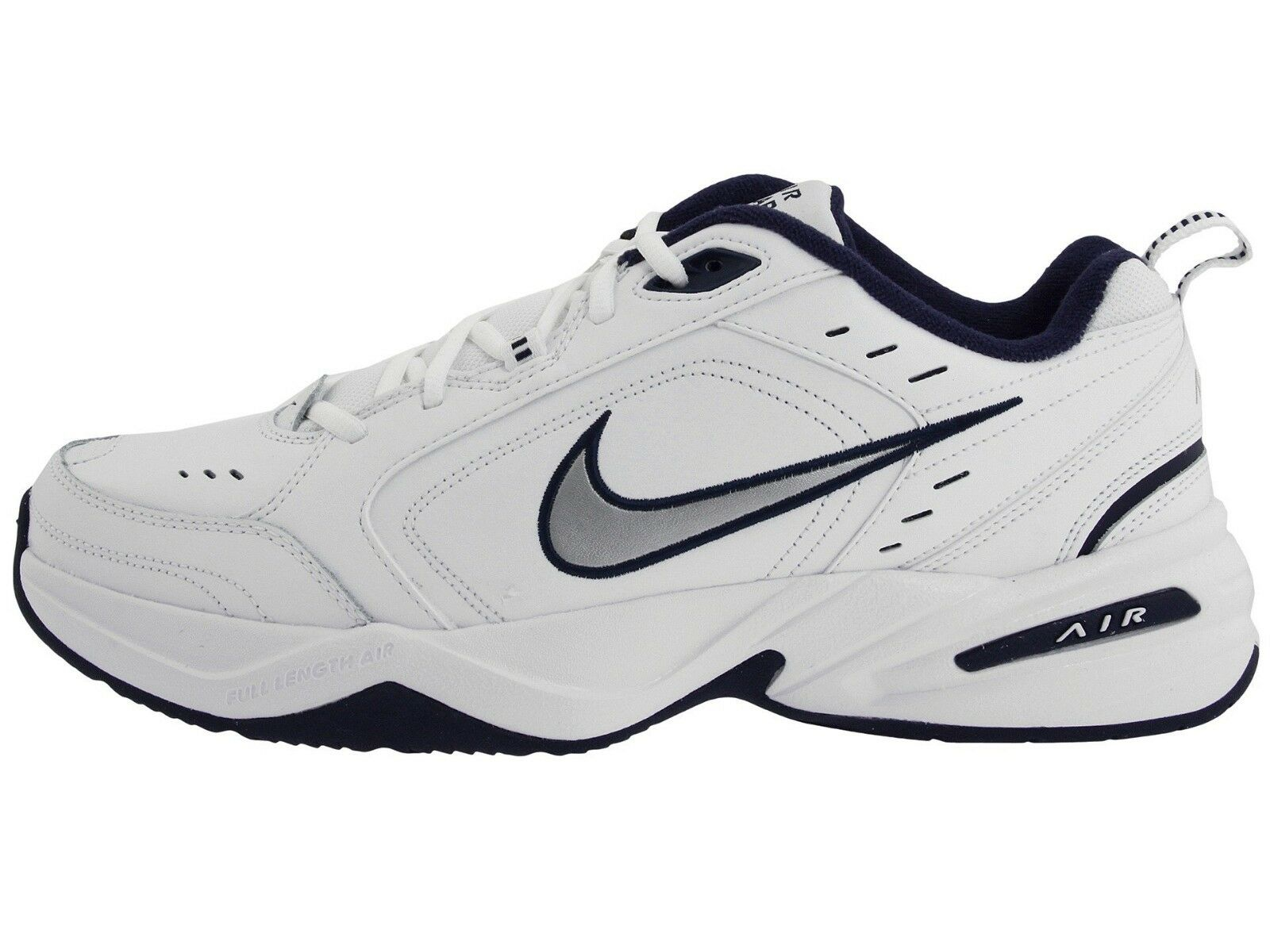 Nike Mens Air Monarch IV Training shoes 4E (416355 102) White Navy Sizes 8.5-13