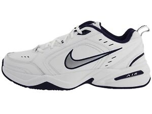 8298f7fa77b Nike Mens Air Monarch IV Training Shoes 4E (416355 102) White Navy ...