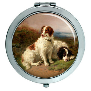 Two-Spaniels-by-Henry-Garland-Compact-Mirror