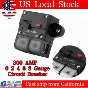300 AMP 12V Resettable 0/2/4/6/8 Gauge Wire Car Audio Stereo Circuit Breaker OUY