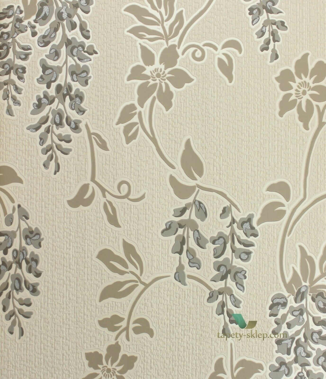 Holden K2 Shiro Charcoal Beige Floral Textured Wallpaper 75681 Ebay