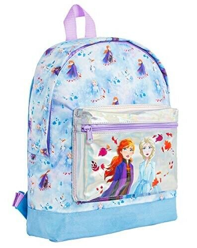 Disney Frozen 2 Backpack for Girls Anna and Elsa Holographic Design School Bags