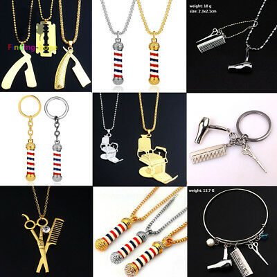 925 Silver Plt Keychains Scissors /& Comb Couples Valentines Hairdressers Gift