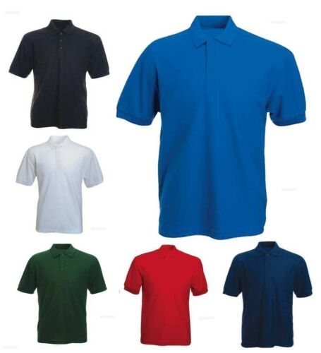 Mens 100/% Cotton Rich Polo T Shirt Size XS to 4XL  WORK SPORTS CASUAL SHIRTS 112
