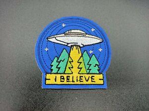 PARCHE OVNI UFO PATCH ABDUCCION ALIEN UNIVERSO PLATILLO NAVE PLANETAS ESTRELLAS