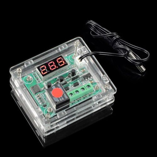 DC 12V Thermostat Temperature Controller Switch Board Red Digital Display Case