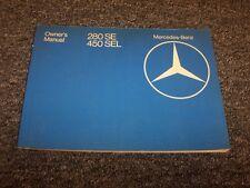 1980 Mercedes Benz 280SE & 450SEL Original Owner Owner's Operator Guide Manual