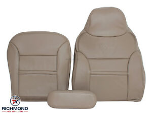 2000 2001 00 01 Ford Excursion Limited XLT Driver Bottom Leather Seat Cover Gray