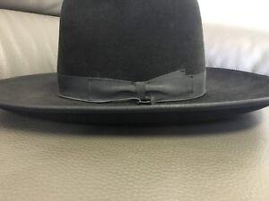 8aeb36f08b4 mens borsalino wide brim fedora hat made in italy UK size 7 1 8