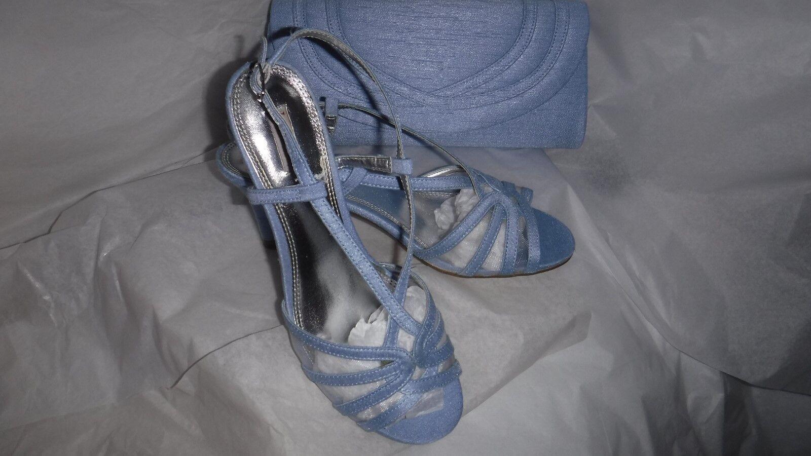 JACQUES Vert Blu Chiaro Scarpe con cinturino 4.5 EU 37 (4) probabilmente 4.5 cinturino & borsa abbinata 911493