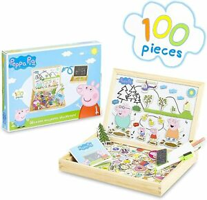 Peppa-Pig-Wooden-Magnetic-Board-Puzzle-Game-Educational-Toy-for-Kids-Boys-Girls