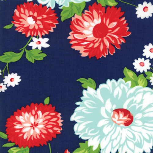 The Good Life Bonnie and Camille Quilt Fabric Scrumptious Navy Style 55150//16