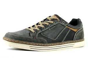 Details zu Memphis One Mens UK 9 EU 43 Blue Low Top Lace Up Sneakers Trainers Shoes Pumps