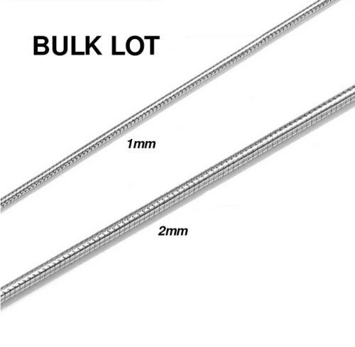Sterling Silver Plated Snake Chain Necklace Bracelet 234mm Bulk Lot 5 10 20