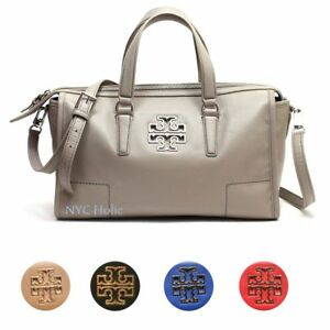 877e76263eef Image is loading Tory-Burch-Britten-Satchel-Leather-Crossbody-Purse-39056-