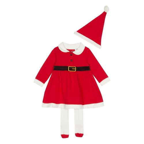 Baby Girls Red  Dress Hat Tights Set  Mrs Christmas xmas Bluezoo outfit first