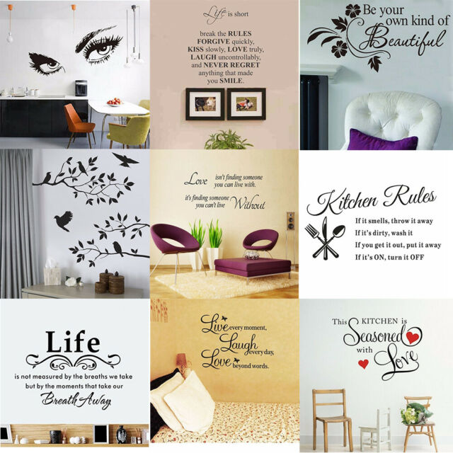 SMILEQ Removable Wall Stickers Art Vinyl Mural Home Room Decor Quote Decal A