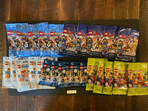 5 of EACH series READ Wholesale Lot TOTAL  25 Sealed LEGO MINI FIGURE PACKS