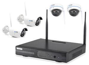 WLAN-Uberwachungsset-FUNK-Kamera-Domekamera-Uberwachungskamera-Hausueberwachung