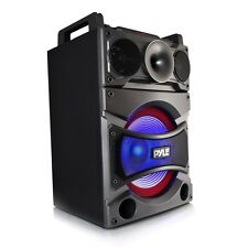 NEW Pyle PSUFM1238BT Bluetooth MP3/USB/SD/FM PA Karaoke Speaker System w/ Mic