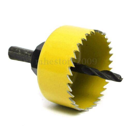 8 Pcs Wood Alloy Iron Cutter Bimetal Hole Saw Drill Bit Kit w Hex Wrench !
