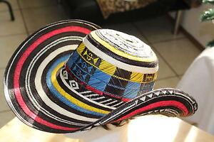 La foto se está cargando Sombrero-colombiano-Fino-Sombrero-Vueltiao-Colombia -Bandera-Colores- 62250d926238