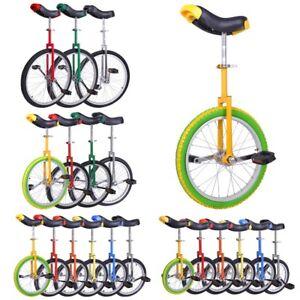 "16/"" 20/"" Kids Adult Wheel Unicycle Cycle Balance Exercise Bike Fitness Sport"