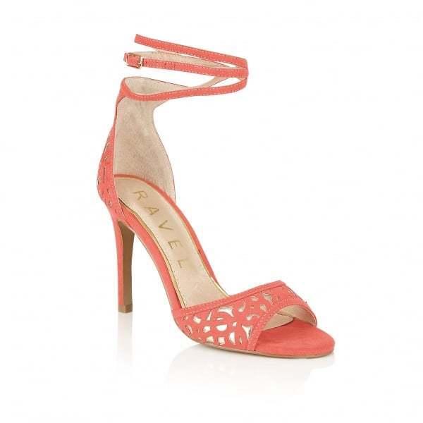 Ravel Monterey Heeled Sandals Coral
