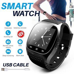Unisexe Bluetooth Smart Bracelet Montre étanche Pour Apple Iphone Samsung Téléphone Uk-afficher Le Titre D'origine