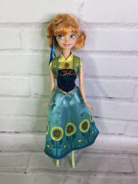 Mattel Disney Frozen Fever Anna Doll With Sunflower Dress
