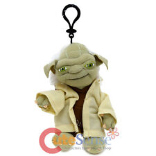 "Star Wars Yoda Plush Doll Coin Bag 7"" Soft Key Chain Clip On"