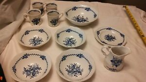 Dresden-11-pc-of-JG-MEAKIN-ENGLAND-BLUE-CHINA-VERY-GOOD-CONDITION