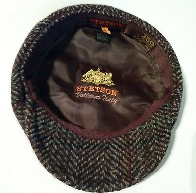 """""""Stetson"""" authentic Virgin soft Wool 8/4 Men Cap Brown color made in Italy"""