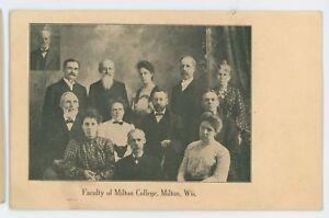 Faculty-of-MILTON-COLLEGE-Milton-WI-Vintage-Rock-County-Wisconsin-Postcard