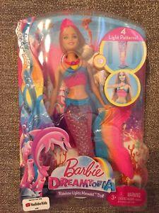 Barbie Dreamtopia Rainbow Lights Mermaid Doll Blonde