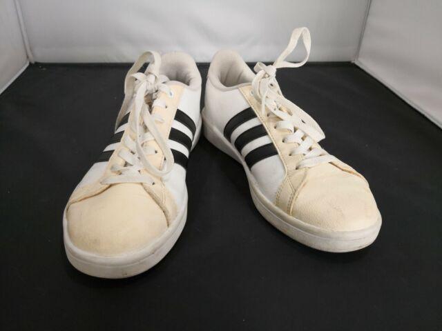 Size 8 - adidas Cloudfoam Advantage White Black - AW4287