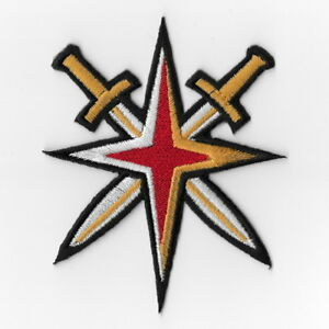 Vegas-Golden-Knights-NHL-Iron-on-Patch-Embroidered-Patches-Applique-Cross-Swords