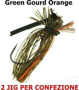 2pz-Jewel-Bait-Finesse-Football-Jigs-JIG-1-2oz-14gr-colore-Green-Gourd-Orange