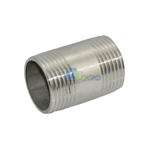 "1/"" Male x  1/"" Male Threaded Pipe Fitting Stainless Steel SS304 BSPT NEW"