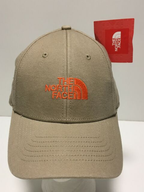 THE NORTH FACE 68 Classic Baseball Hat Adjustable Size Ball Cap Beige/Orange NWT