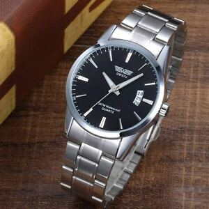 New-Fashion-Men-039-s-Stainless-Steel-Band-Date-Analog-Quartz-Waterproof-Wrist-Watch