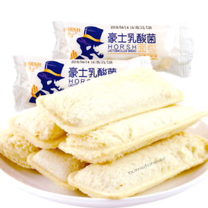 1.36kg Chinese HORSH Snacks Food Yogurt Bread 豪士乳酸菌小口袋酸奶面包散装1.36千克 约58-60包 Ske15