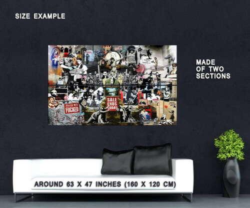 64662 Banksy Collage Wall Print POSTER Plakat